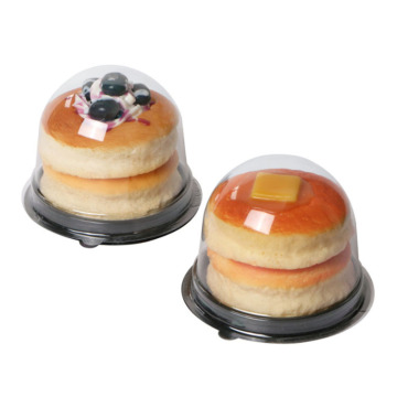 Round domes transparent clear plastic cupcake box