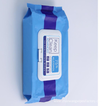 Custom Non-woven Alcohol Disinfectant Cleaning Wet Wipes
