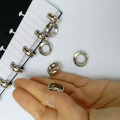 6pcs High Quality Metal Loose Foldable Ring 18mm Mushroom Hole Plate Buckle Hole Button Notepad Book Binder Buckle Hole Button