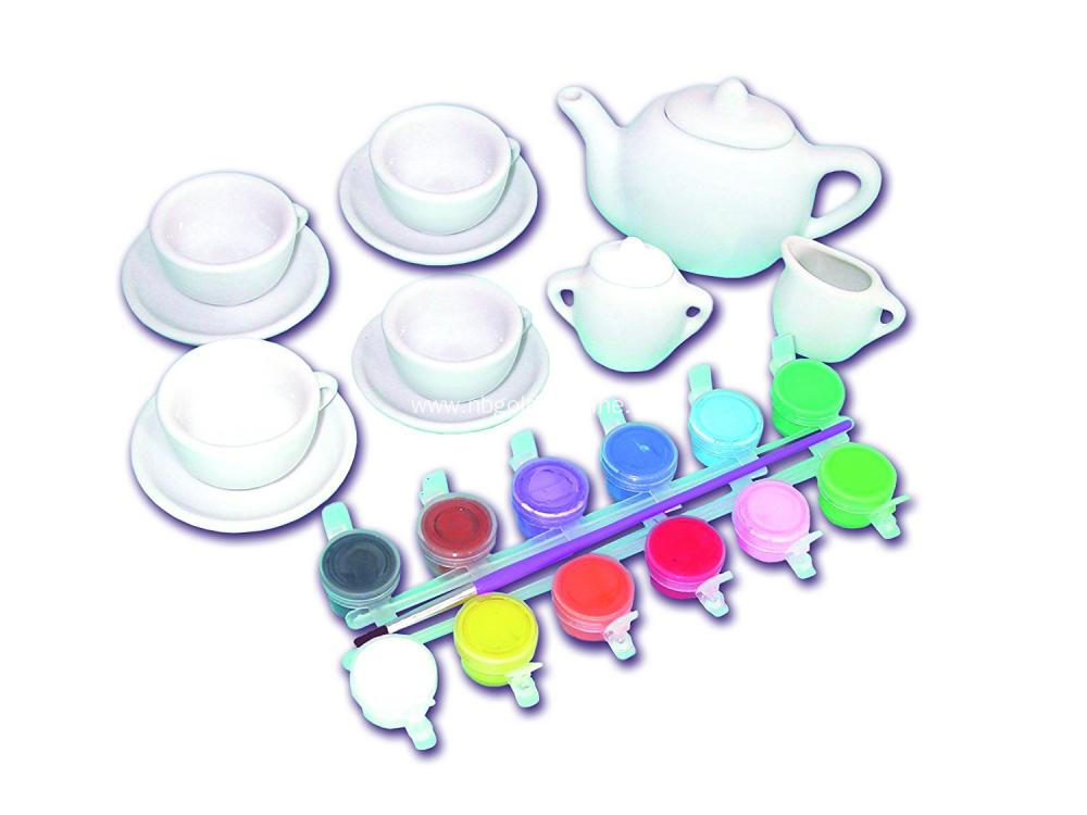 Coloring And Painting Your Own Tea Set