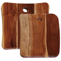 Square wooden cutting board