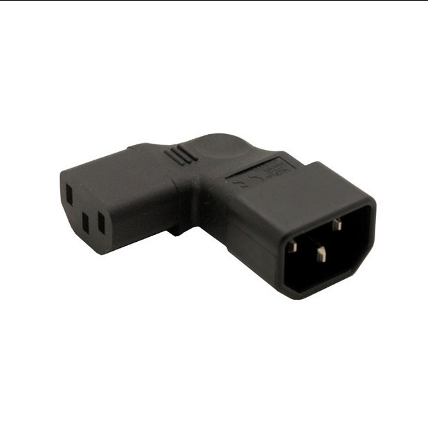 NEW IEC Connectors IEC 320 C14 male to C13 famale Vertical right angle Power adapter Conversion plug