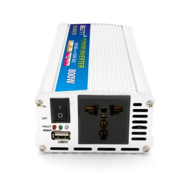 Portable Aluminum Build USB Output Inverter 800W