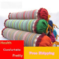Stripe Cervical coarse cotton Home care Buckwheat husk pillow new traction pillow washable jacket home sleeping pillow