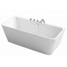 Curved Shaped Acrylic Rectangular Bathtub for Sale