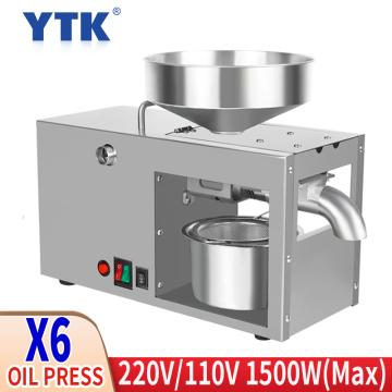 X6 110V / 220V display full automatic olive oil press cold press oil sunflower seed cold press oil press