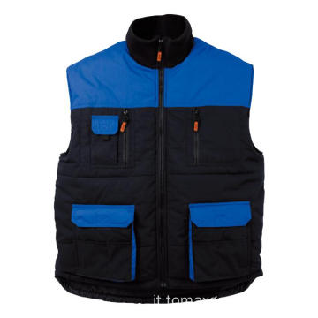 Blu con body warmer nero