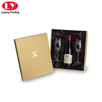 luxury wine glass cardboard gift box