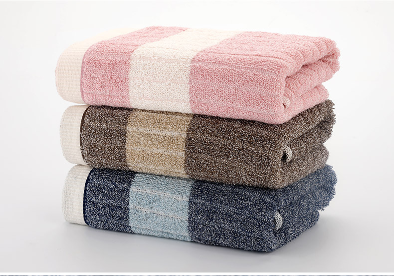 Gift towel customized logo cotton adult water absorbent soft face towel bath towel set of three (4)