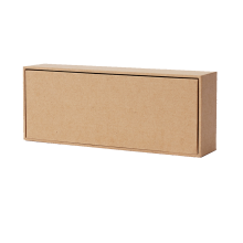 Simple Color Print Kraft Paper Package Gift Box