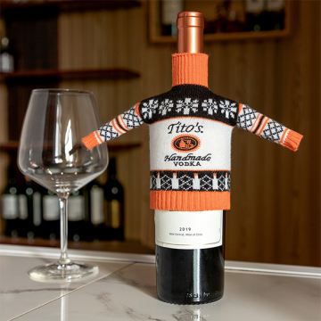 High Quality Cute Knitted Wine Set
