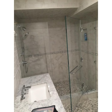 8mm 10mm 12mm Shower Tempered Glass Panels Price