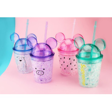 Plastic Water Bottle With Cute Cover