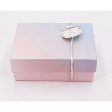 Customized Ribbon Folding Paper Gift Box