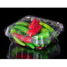 Clamshell plastic box with vegetable