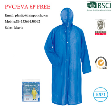 Fashion waterproof yellow long pvc rain coat/raincoat