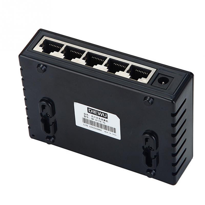 10/100 Gigabit Ethernet Gigabit Mini Hub 5-Port Desktop Adapter Network Exchange Switch LAN up to 1000 megabits/second
