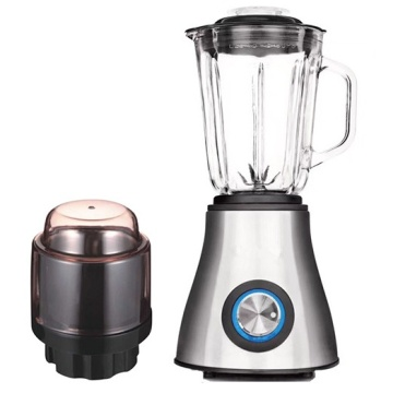 stainless steel smoothie food blender with glass jar