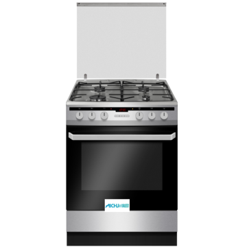 Black Freestanding Electric Cooker Gas Stove