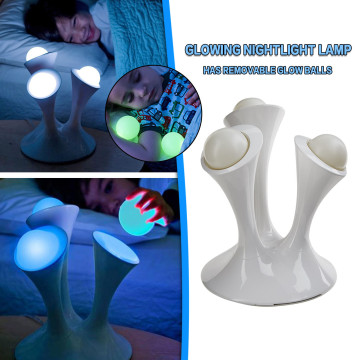 Creative Mushroom Night Light Colorful Glowing Led Lamp With Removable Balls Children Sleeping Toy Bedside Lamp To The Bathroom