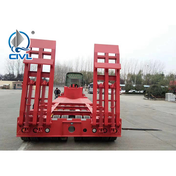 3 Axles Lowbed Trailer for Equipment Transport