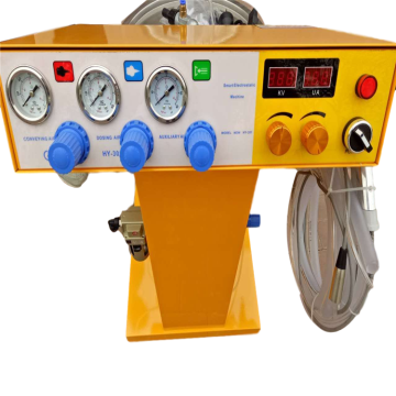 yellow powder coat machine