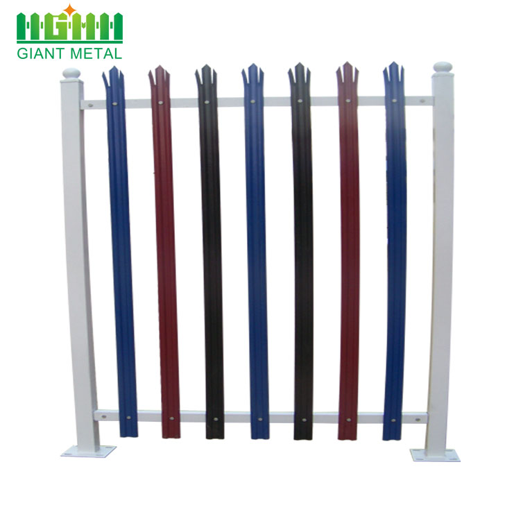 High security steel palisade fence