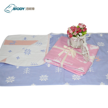 Baby Muslin Swaddle Multilayer Blanket Gift Set