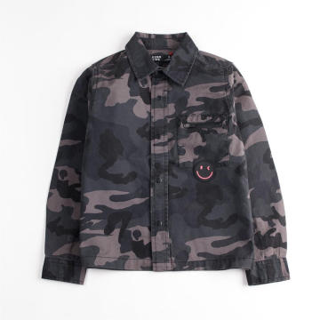 Fashion Camouflage Long Sleeve Shirt Men's Jacket