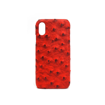 New Arrival Custom Genuine Ostrich Leather Phone Case