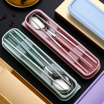 Outdoor Utensils Set Stainless Steel Cutlery Travel Set
