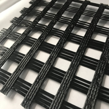 High Strength Warp knitting Polyester Geogrid