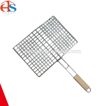 Chrome Grill Wire Mesh with Wood Handle