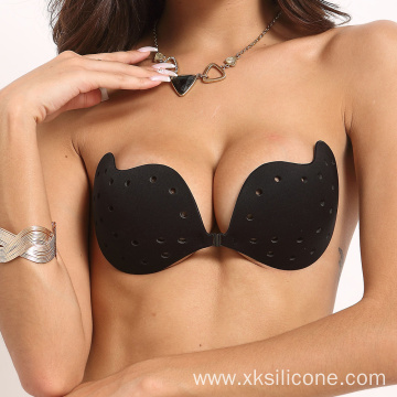 Adhesive Push Up Strapless Sticky Silicone Bra