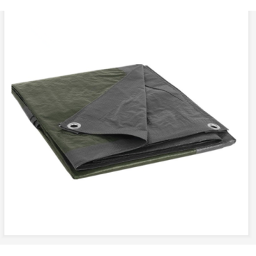 Green silver tarpaulin sheet for truck