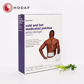 Menthol Cold and hot medicated patch for Back