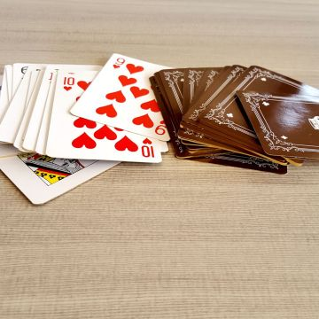 High Quality Grey Core Paper Poker Playing Cards