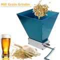 2-Roller Manual Barley Malt Mill Grain Grinder Crusher Mortar and Pestle Corn Peanut Food Grinder Powder for Homebrew Machine