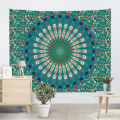 Bohemian Tapestry Mandala Wall Hanging Indian Style Boho Psychedelic Tapestry for Livingroom Bedroom Home Dorm Decor Dark Green