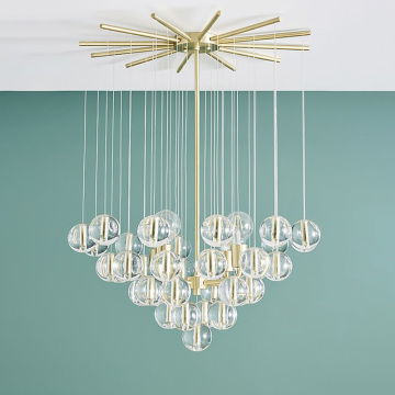 Beaded Chandeliers With Crystals