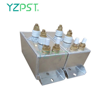 Induction heating audio water cooled capacitor