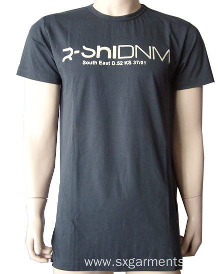 Custom Men's 100% cotton t-shirt short sleeve