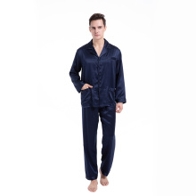 100% Silk Classic Pocket Set Sleepwear Pajamas