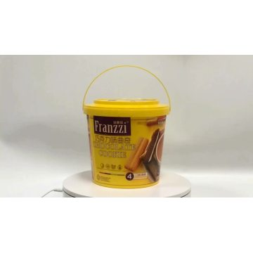 customized printing Tamper evident plastic chocolate bucket