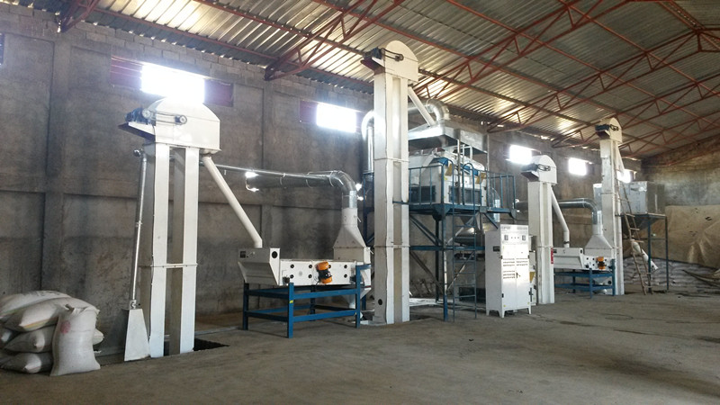 sesame processing machine