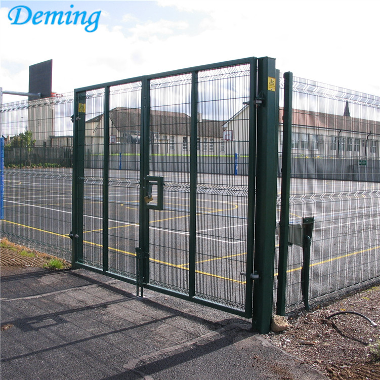 PVC Coated High Security Metal Double Door Gate