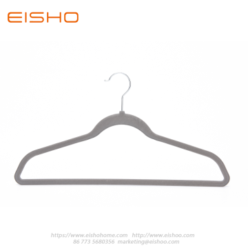 EISHO Home Premium Grey Velvet Hangers For Clothes