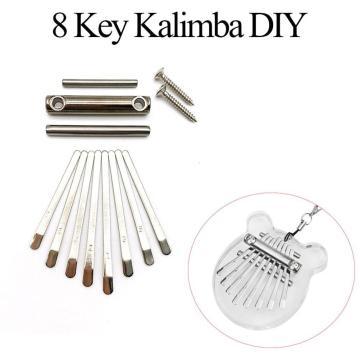 Kalimba Keys Diy Thumb Piano 8 Keys Bridge Saddle Hardware Pack For Kalimba Thumb Piano Mbira Diy Replacement Parts Accessory