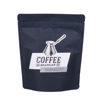 Matt Finish Black Ziplock Roasted Coffee Bag Pouches flexible packaging