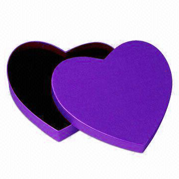 Custom Colour Heart Shape Gift box With Lid